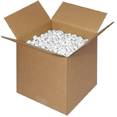 White Packing Peanuts 14 Cubic Foot Bag Packaging